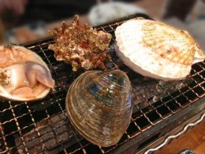 貝 網焼き